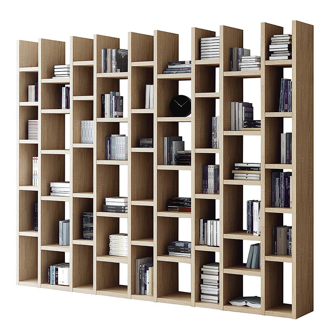 Bibliothèque Emporior III - Imitation chêne de Sonoma, Fredriks