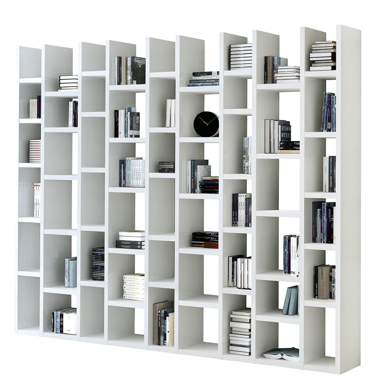 Bibliothèque Emporior III - Blanc - Blanc, Fredriks