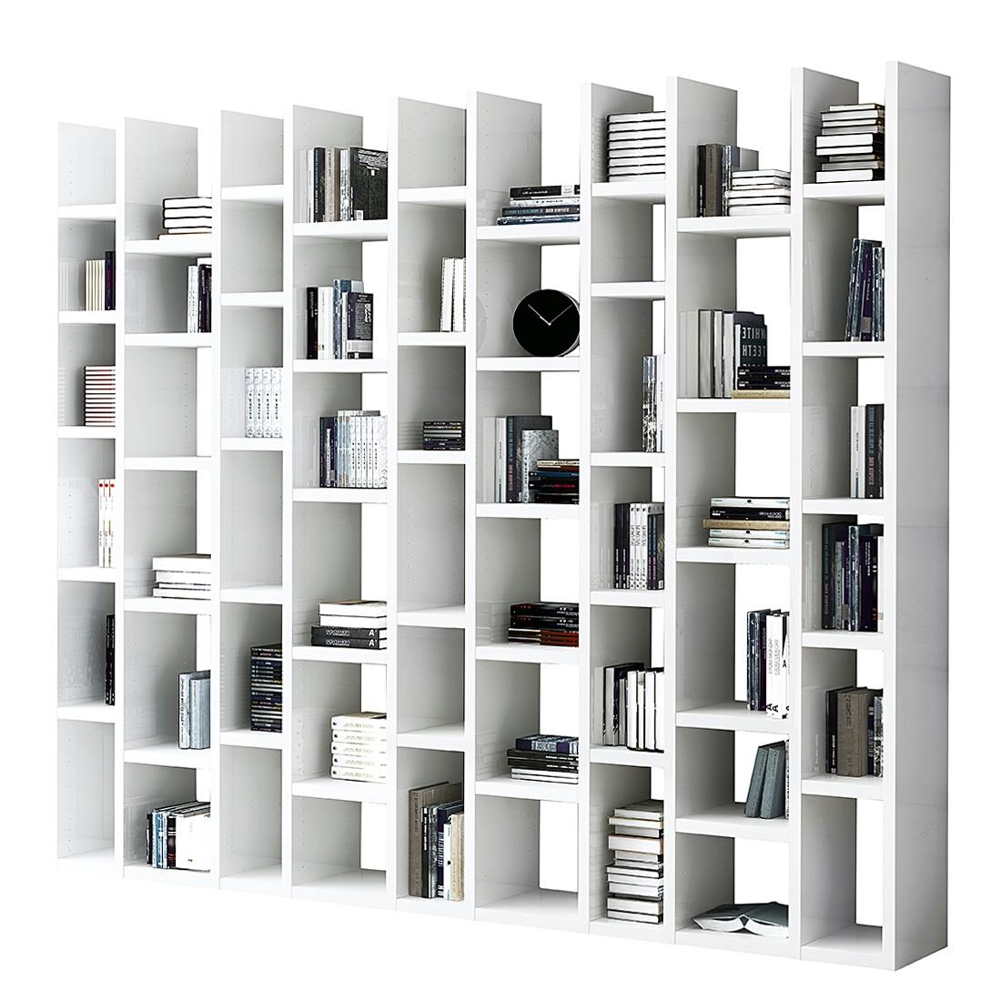 Bibliothèque Emporior III - Blanc brillant, Fredriks