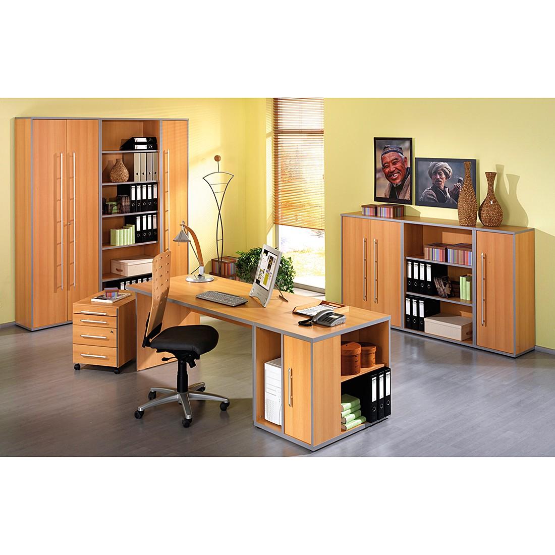 Mobilier de bureau Kirk - Imitation hêtre, Wellemöbel