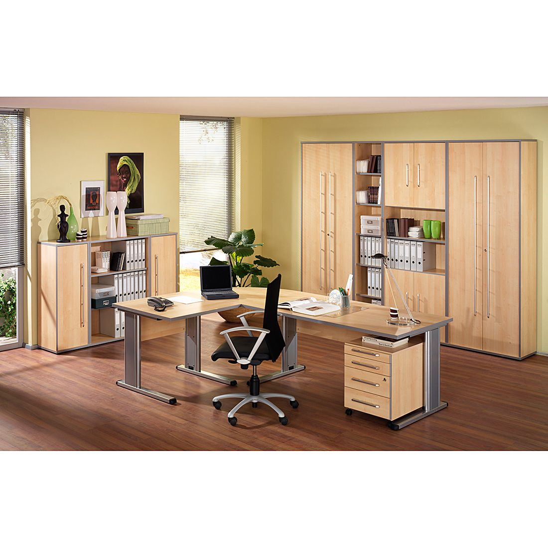 Home 24 - Mobilier de bureau kirk extra - imitation érable, wellemöbel