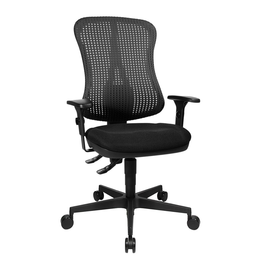 Bürodrehstuhl Head Point - Höhenverstellbare Armlehnen - Ohne Kopfstütze - Schwarz, Topstar