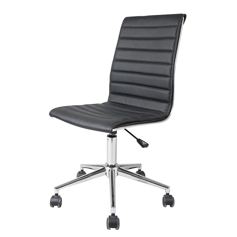 Home 24 - Chaise de bureau marilyn - imitation cuir - noir, fredriks