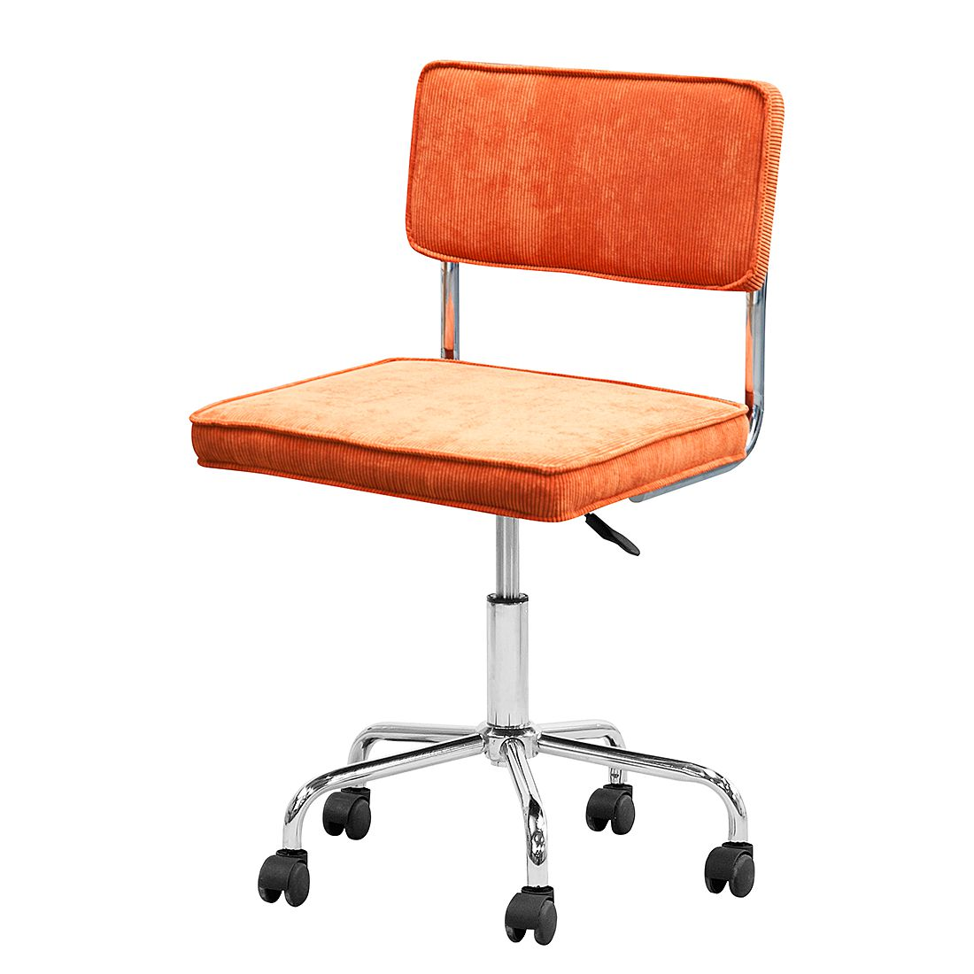 B rodrehstuhl marlon webstoff orange home24 office for Home24 office