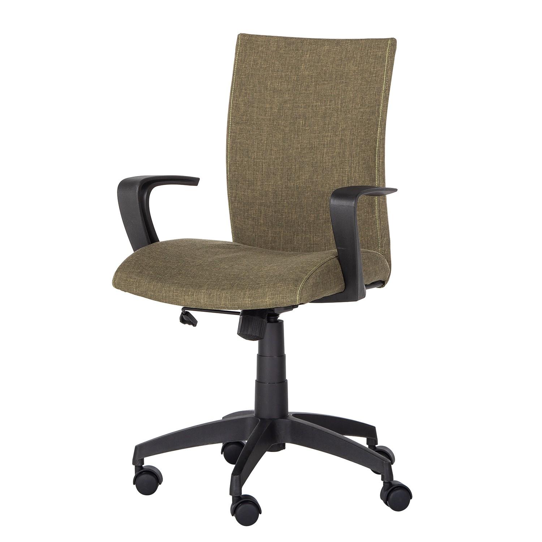Home 24 - Chaise de bureau pivotante maze - tissu - kaki, roomscape