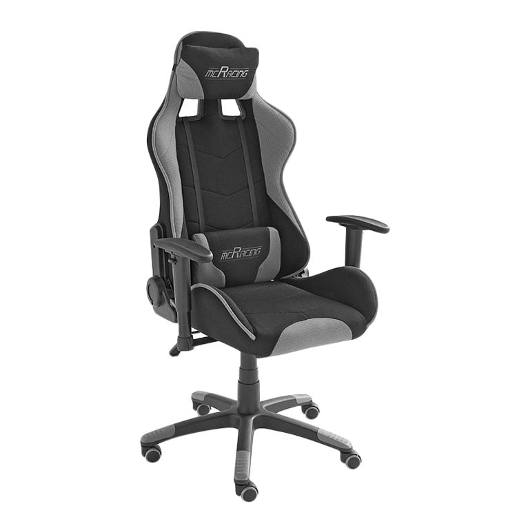 Gaming Chair mcRacer - Webstoff - Schwarz / Grau, home24 office