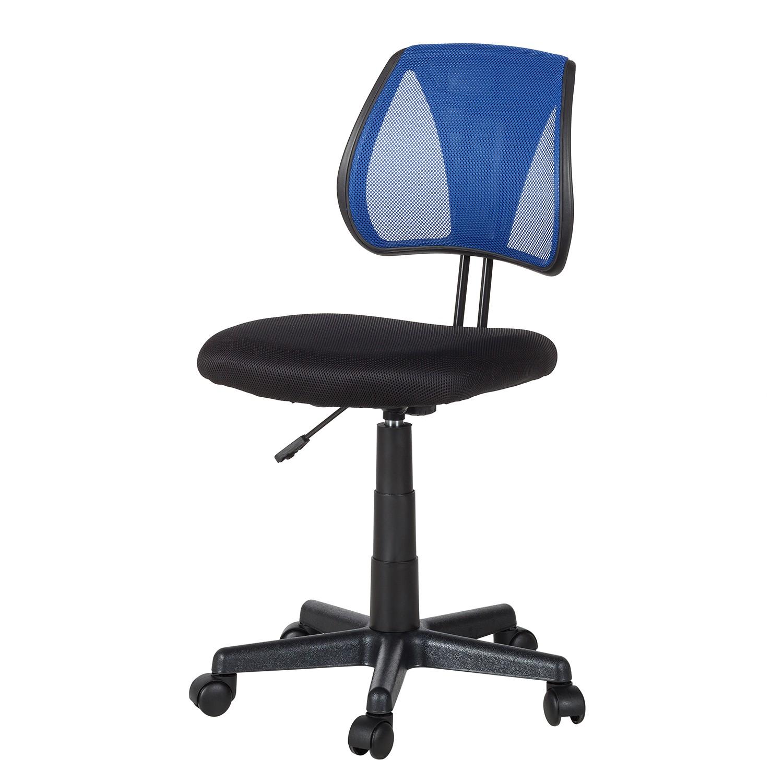 Bürodrehstuhl Seda - Mesh - Schwarz / Blau, mooved