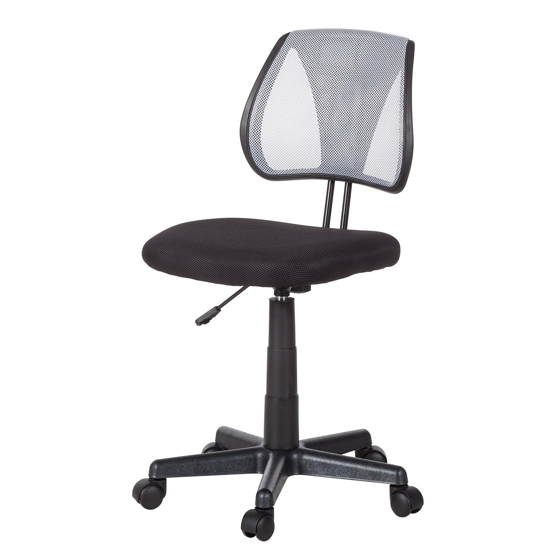 Home 24 - Chaise de bureau pivotante seda - mesh - noir / gris, mooved