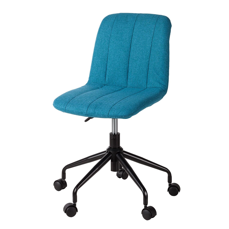 Home 24 - Chaise de bureau vetla - tissu / matériau synthétique - bleu, home24 office