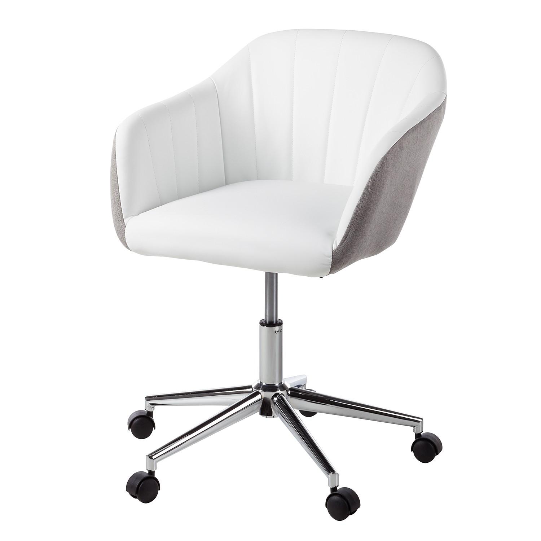 Scrapeo chaise de bureau en cuir blanc - Chaise de bureau cuir ...
