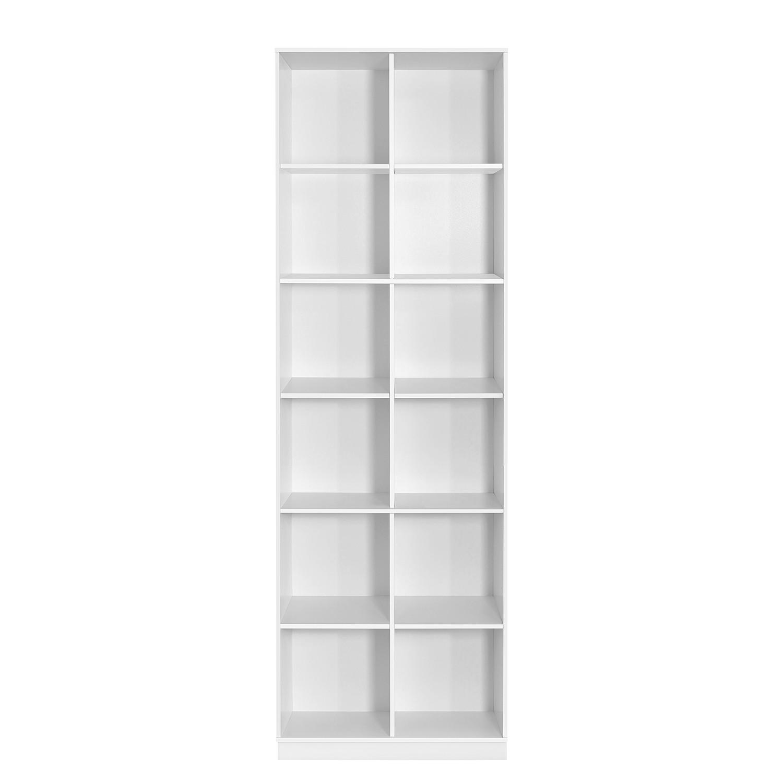 Bibliothèque Janos II - Blanc - Sans porte, Steens