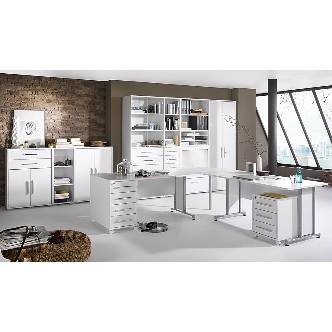 Home 24 - Combinaison de bureau merit x (12 éléments) - blanc glacier / blanc brillant, maja möbel