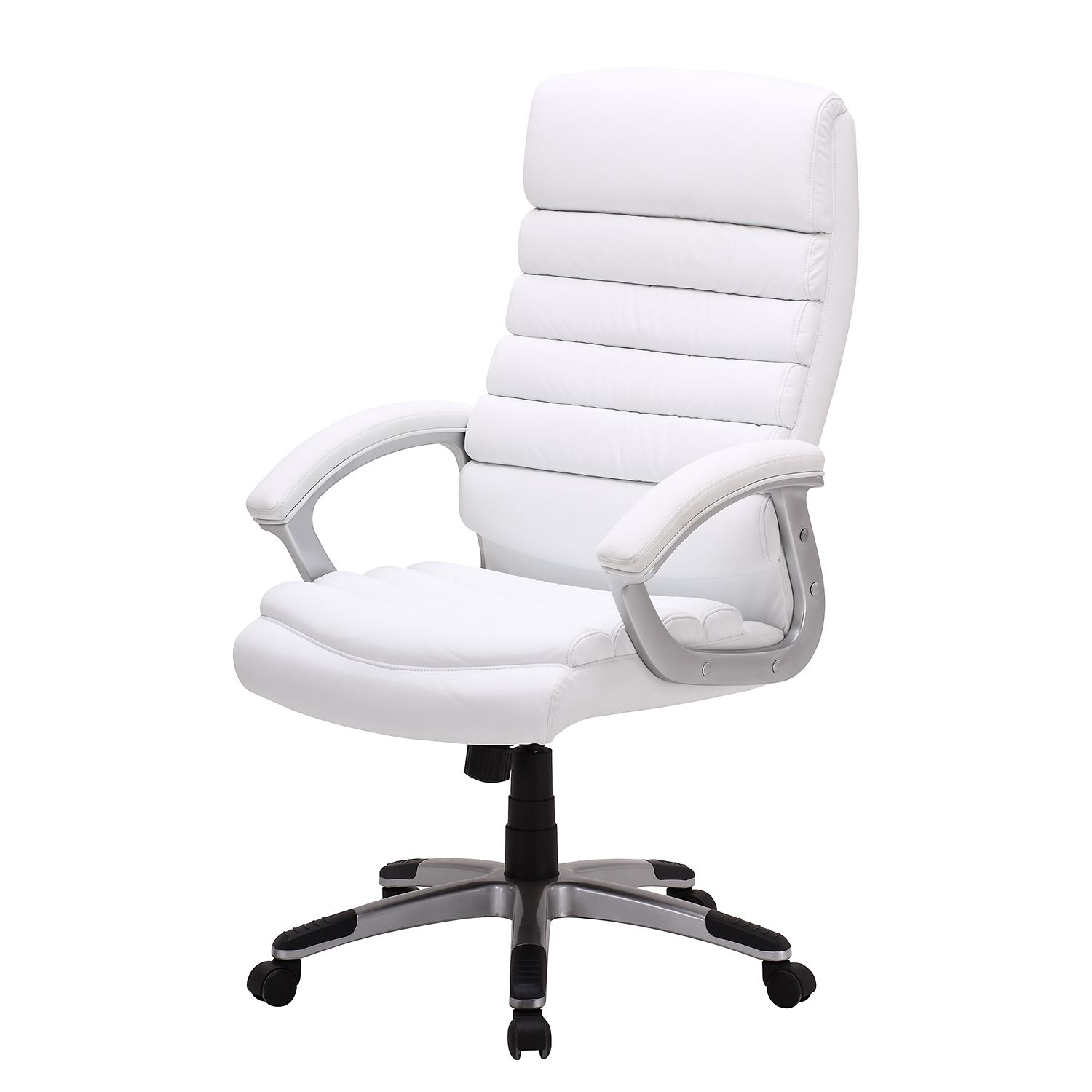 Home 24 - Fauteuil de direction hatley - imitation cuir - blanc, home24 office