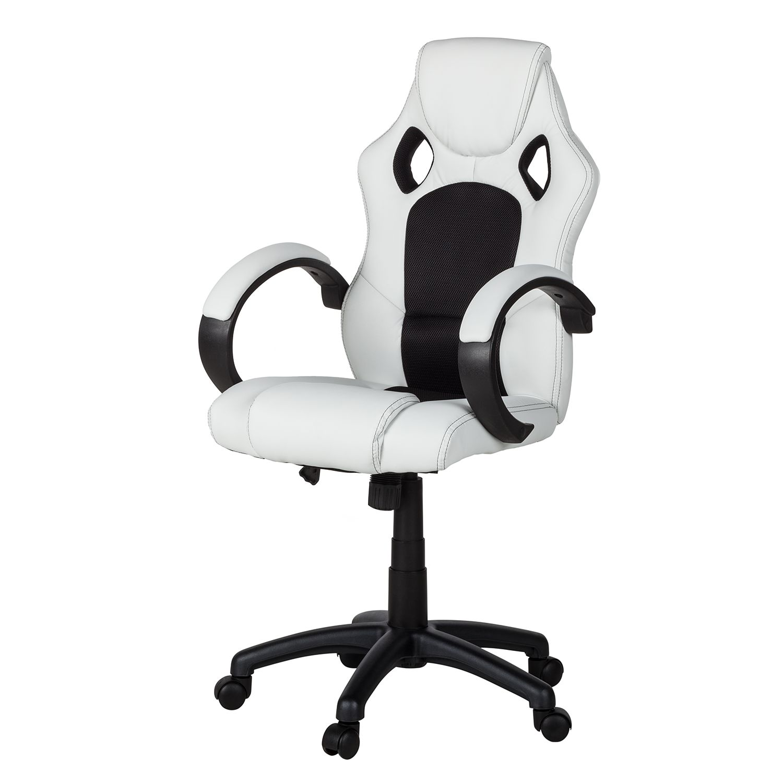 Gaming Chair Livaro - Kunstleder / Mesh - Schwarz / Weiß, mooved