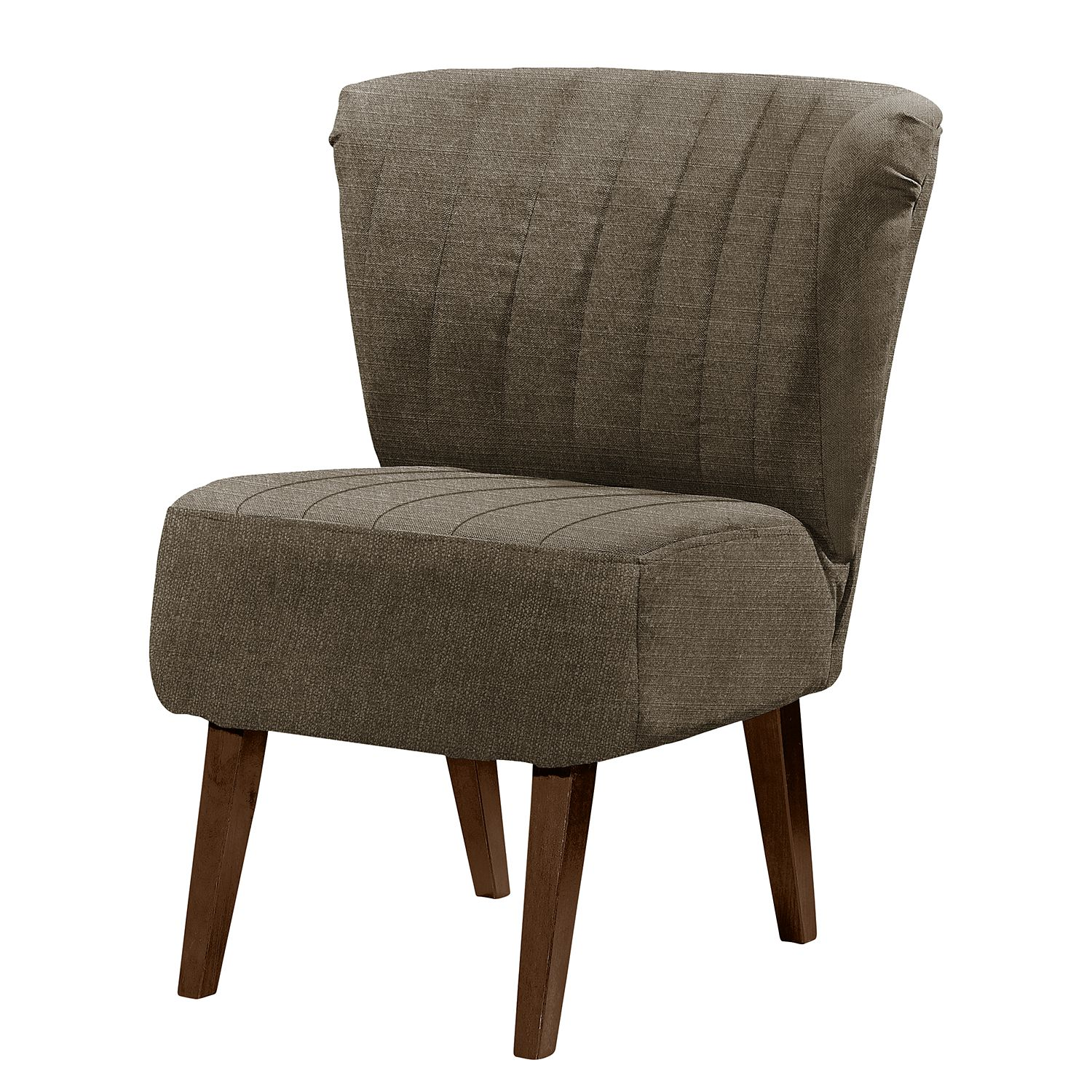 Fauteuil Rotnes I - Tissu - Gris marron, mooved