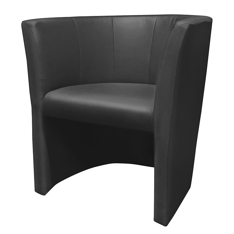Home 24 - Fauteuil cocktail wagait - imitation cuir - noir, mooved