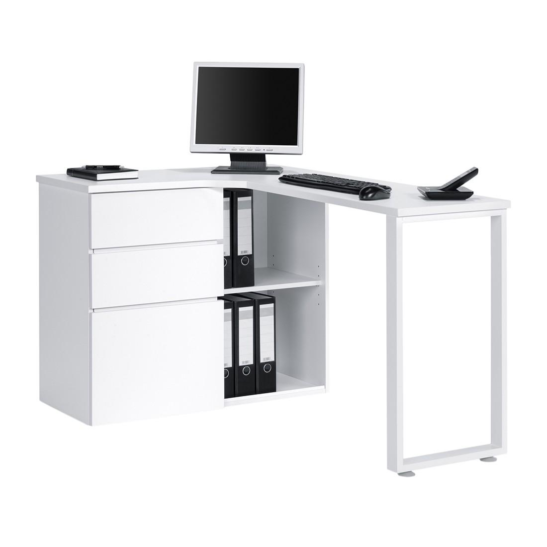 Computer-Eckschreibtisch Filipo - Weiß, Maja Möbel