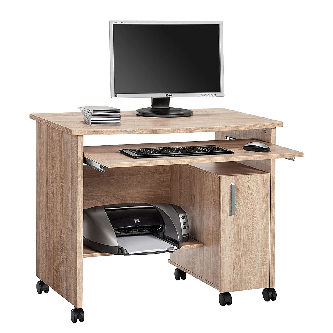 Bureau pour ordinateur Orla - Imitation chêne de Sonoma, Maja Möbel