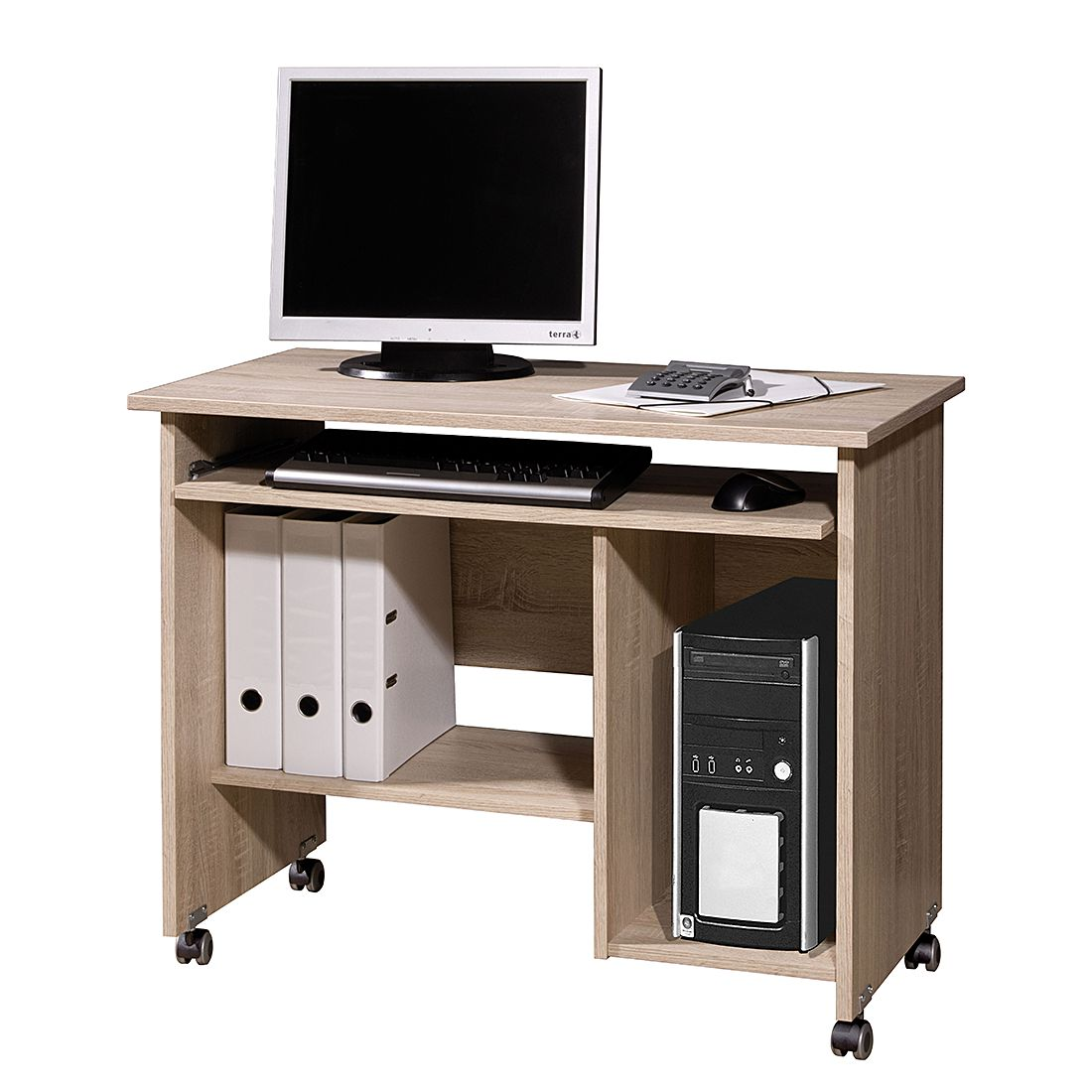 Home 24 - Bureau pour ordinateur lasse - imitation chêne de sonoma, home24 office