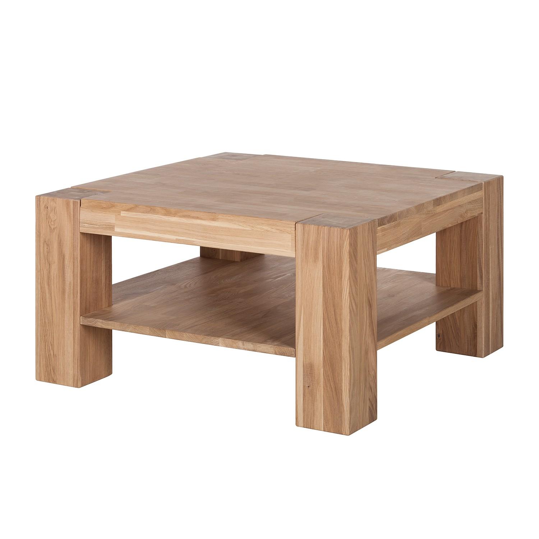 Tavolino da salotto AarupWOOD II - legno massello di quercia - Quercia oliata bianca, Ars Natura