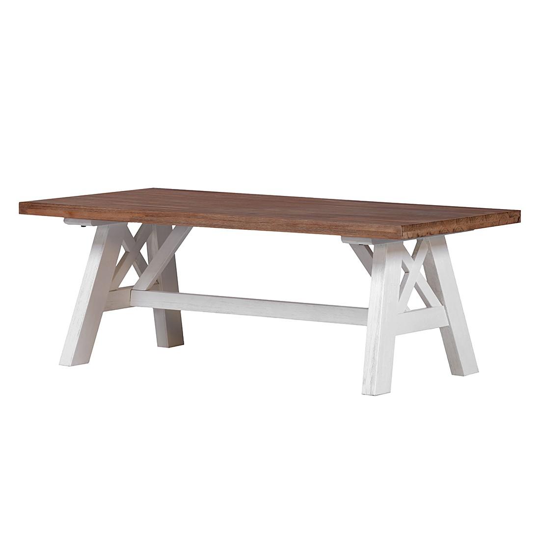 Table basse Akazia - Partiellement en acacia massif - Verni, Ridgevalley