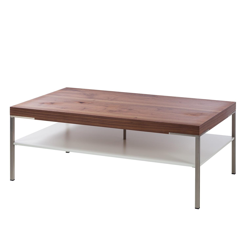 Couchtisch Anzio - Astnussbaum / Matt Weiß - 110 x 65 cm
