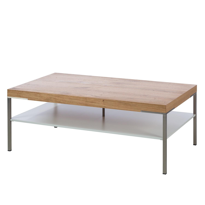 Couchtisch Anzio - Balkeneiche / Matt Weiß - 110 x 65 cm