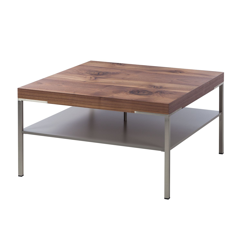 Table basse Anzio - Noyer ramageux / Mat fango - 75 x 75 cm, Netfurn by GWINNER