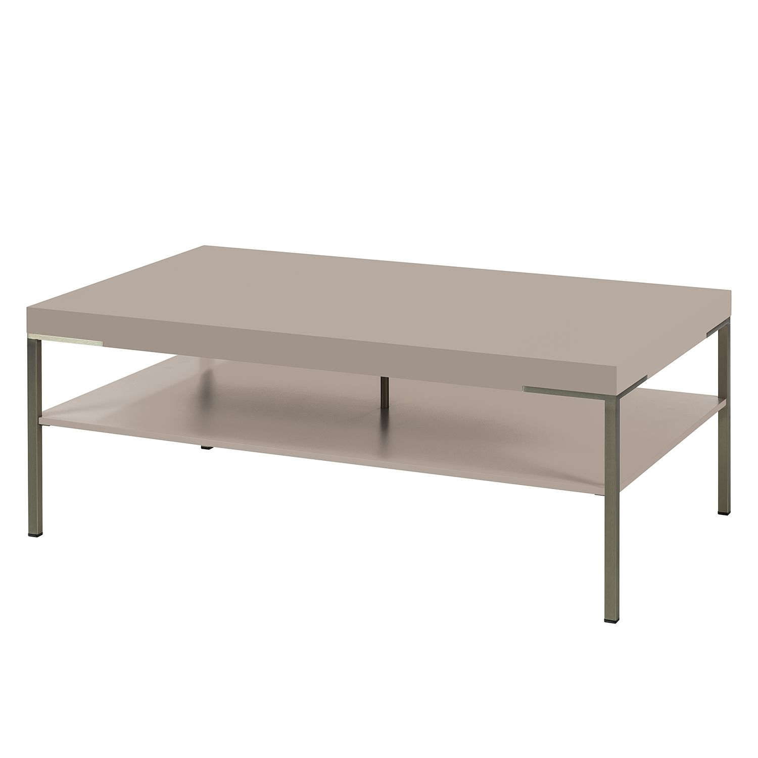 Table basse Anzio - Mat fango - 110 x 65 cm, Netfurn by GWINNER