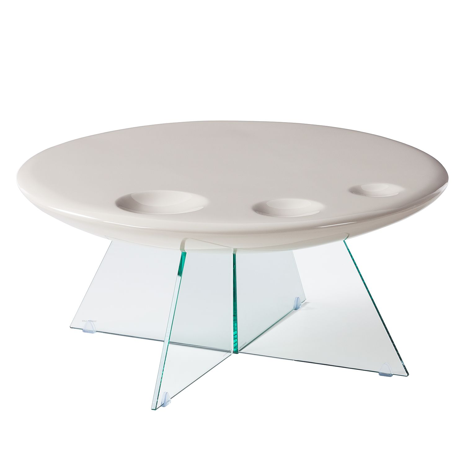 Table basse Ayon - Gris clair brillant, Fredriks