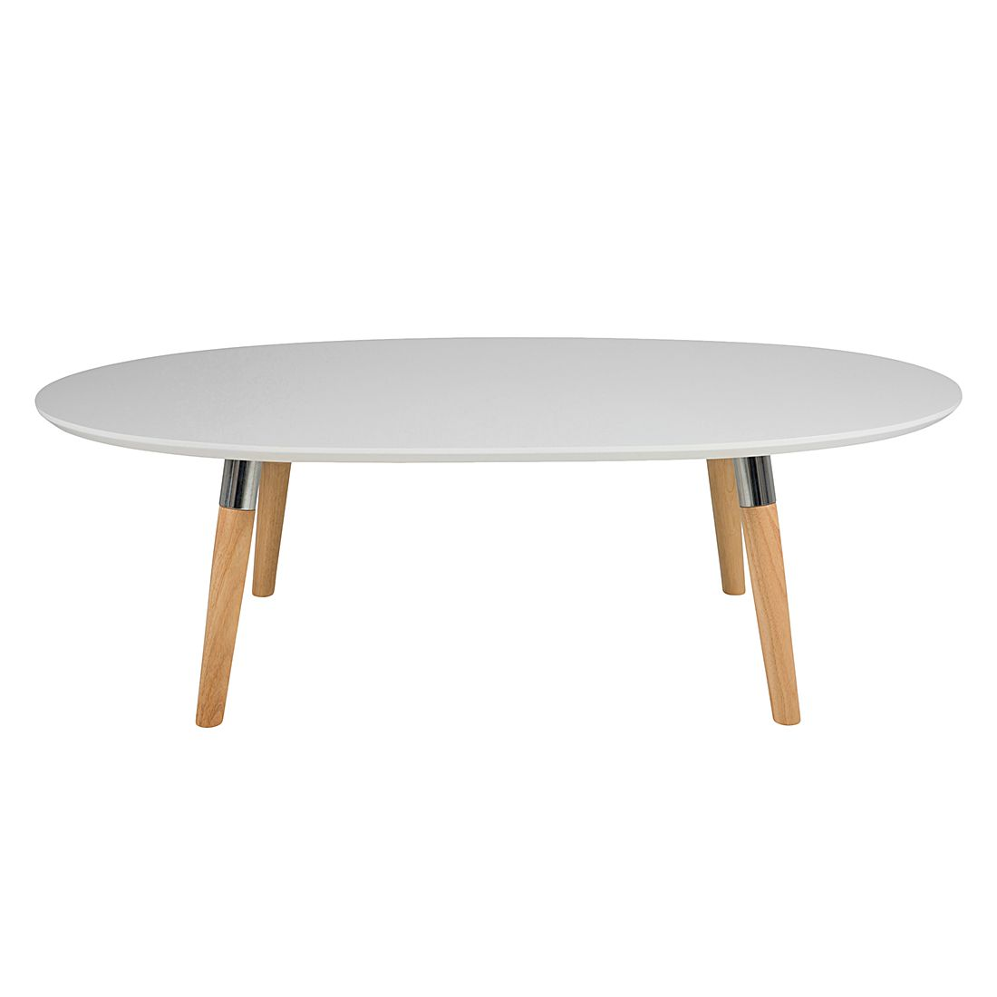 Tavolino da salotto Belino - Parzialmente in legno massello di quercia Bianco, Morteens