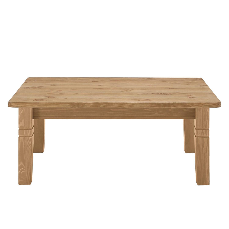 Table basse Bergen - Pin massif - couleur bois lessivé, Maison Belfort