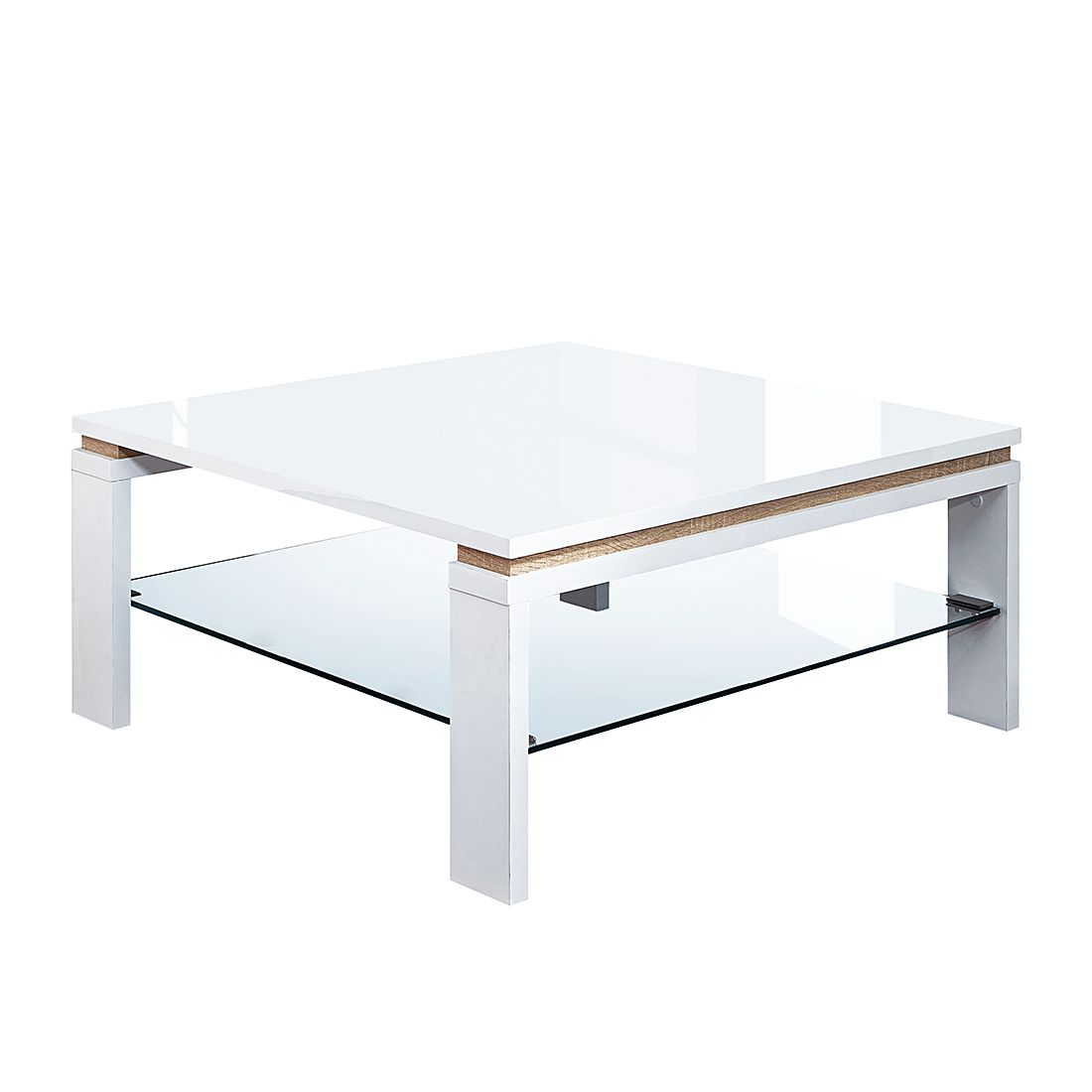 Table basse Campo - Blanc brillant / Imitation chêne Sonoma, Fredriks