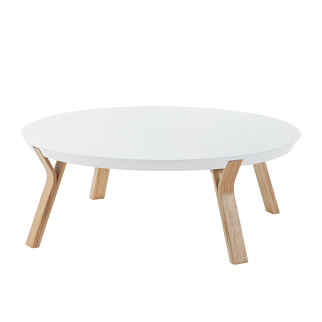 Table basse Collone - Blanc mat / Frêne, Norrwood