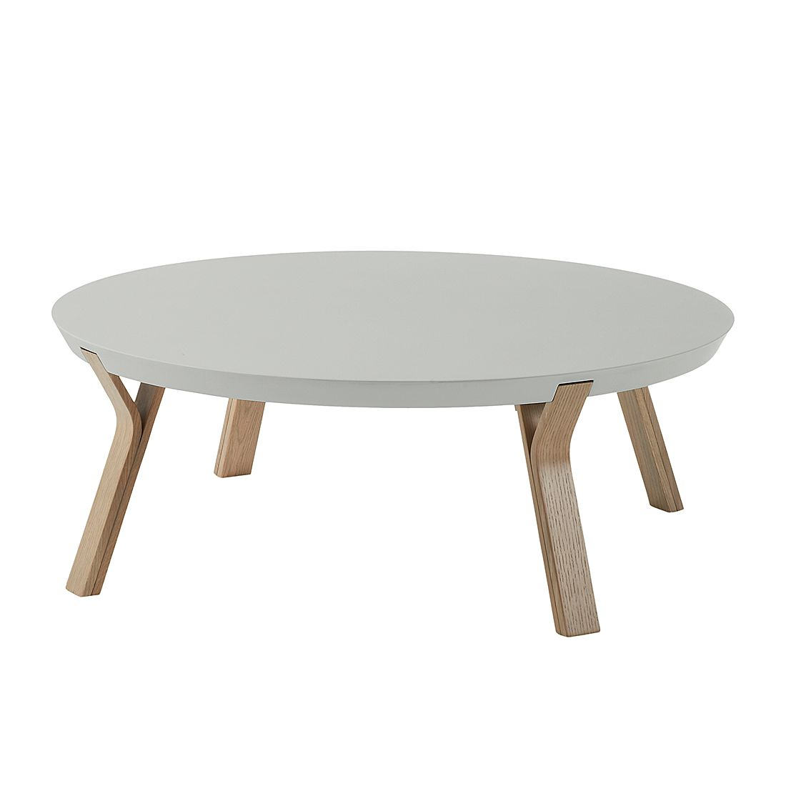 Table basse Collone - Gris clair mat / Chêne, Norrwood