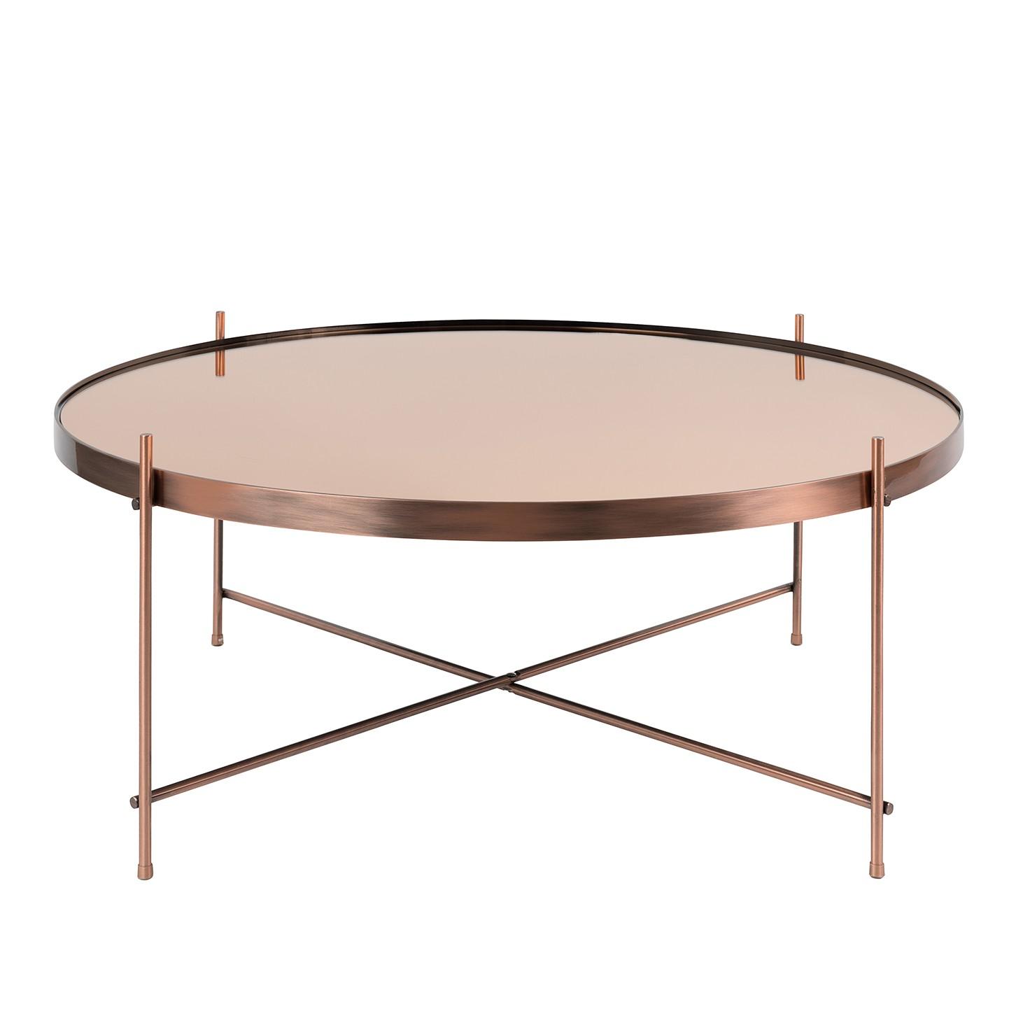 Tavolino Cupid II - Ferro/Vetro Color rame, Zuiver
