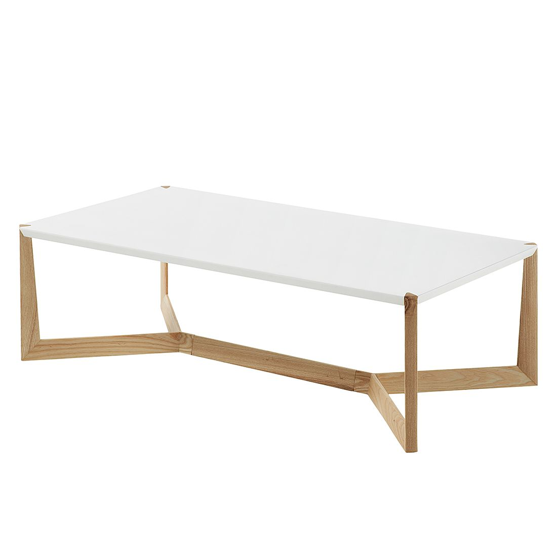 Table basse Donore - Blanc mat / Frêne, Morteens