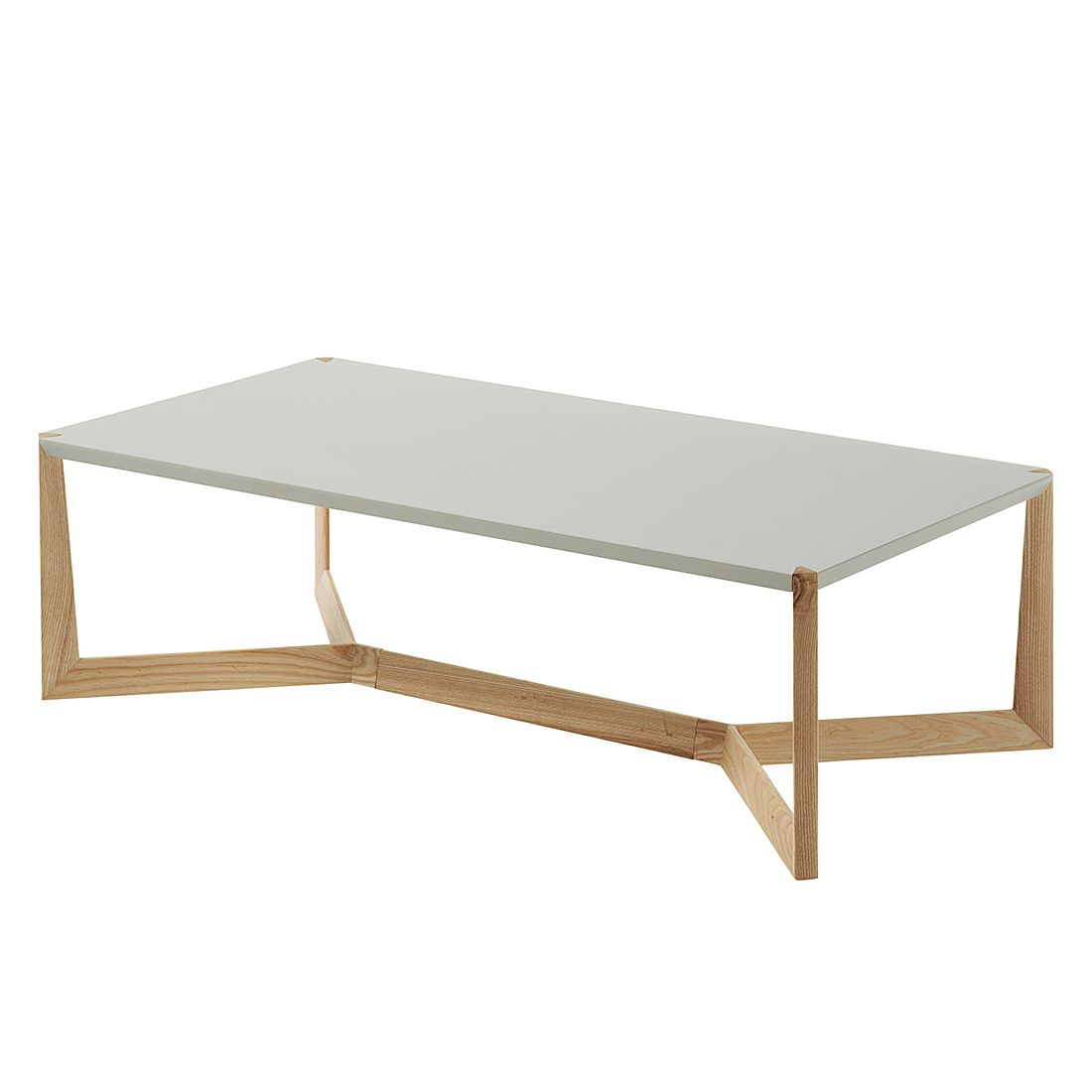Table basse Donore - Gris clair mat / Chêne, Morteens
