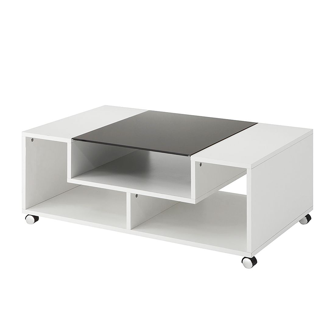 Table basse Franky - Blanc / Noir, mooved