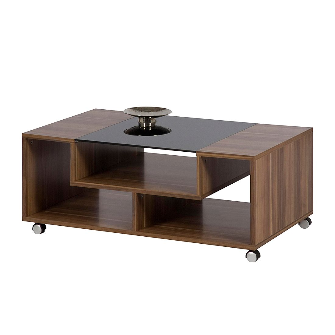 Table basse Franky - Imitation prunier / Noir, mooved