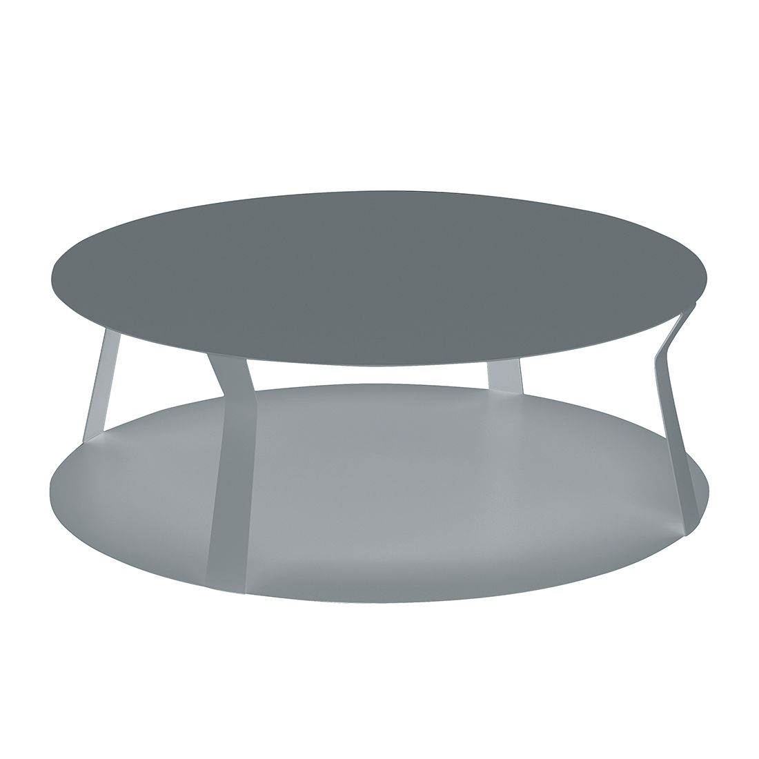 Table basse Freeline II - Métal - Gris argenté, Memedesign