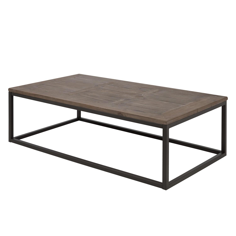 Home 24 - Table basse inverness - Épicéa massif marron / noir, ars manufacti