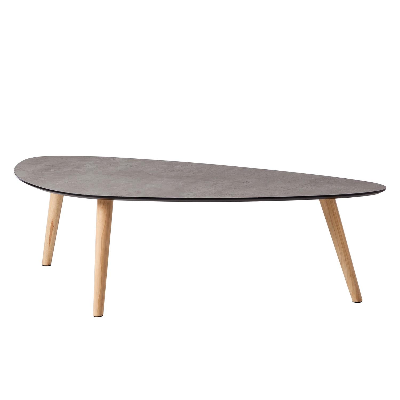 Table basse Karay - Caoutchouc massif - Imitation béton / Caoutchouc, Morteens