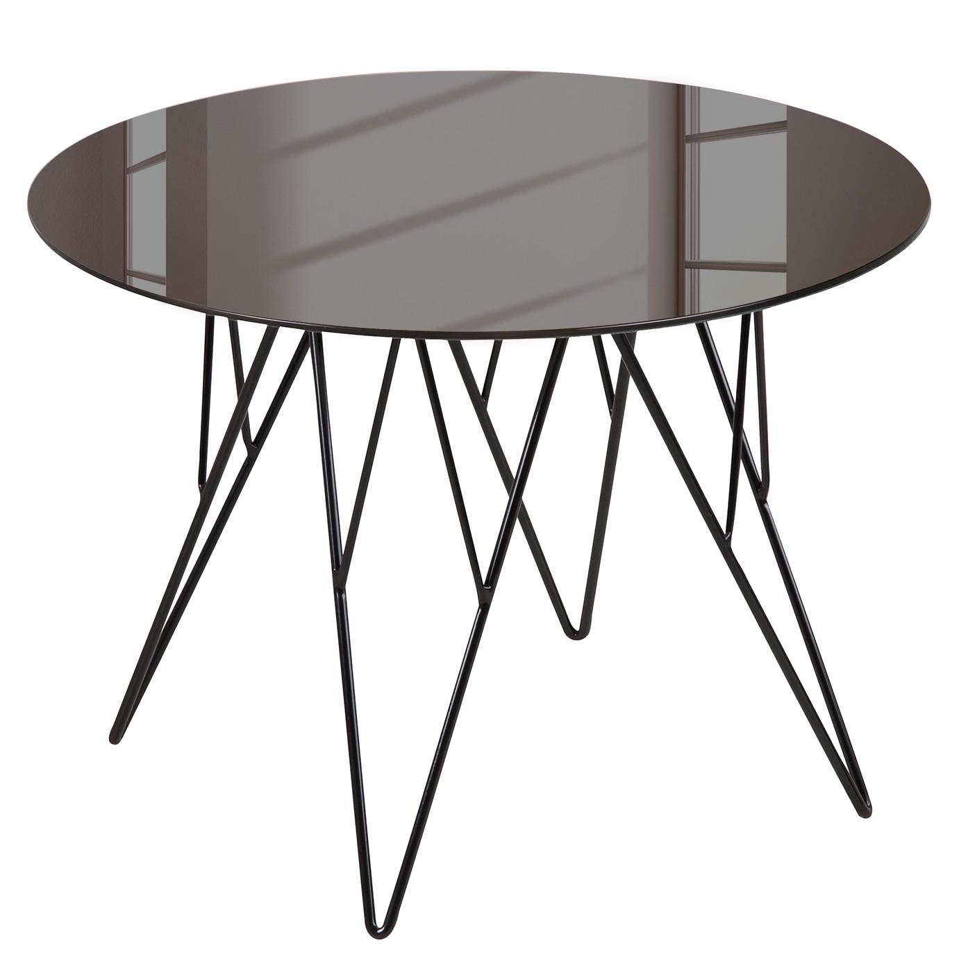 Table basse Kazo - Verre miroir / Métal - Bronze / Noir - 80 x 45 cm, Fredriks