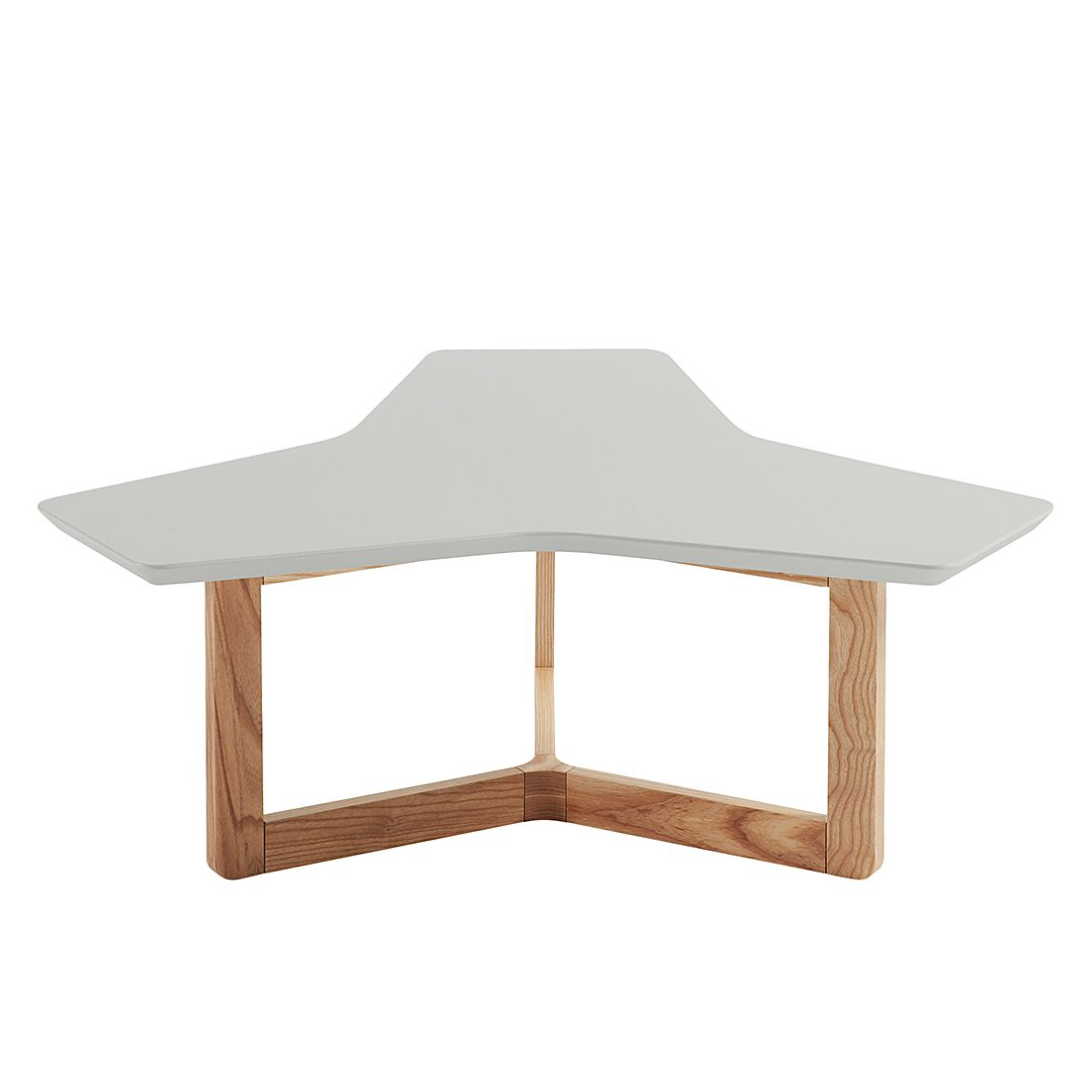 Table basse Larne - Gris mat / Frêne, Morteens