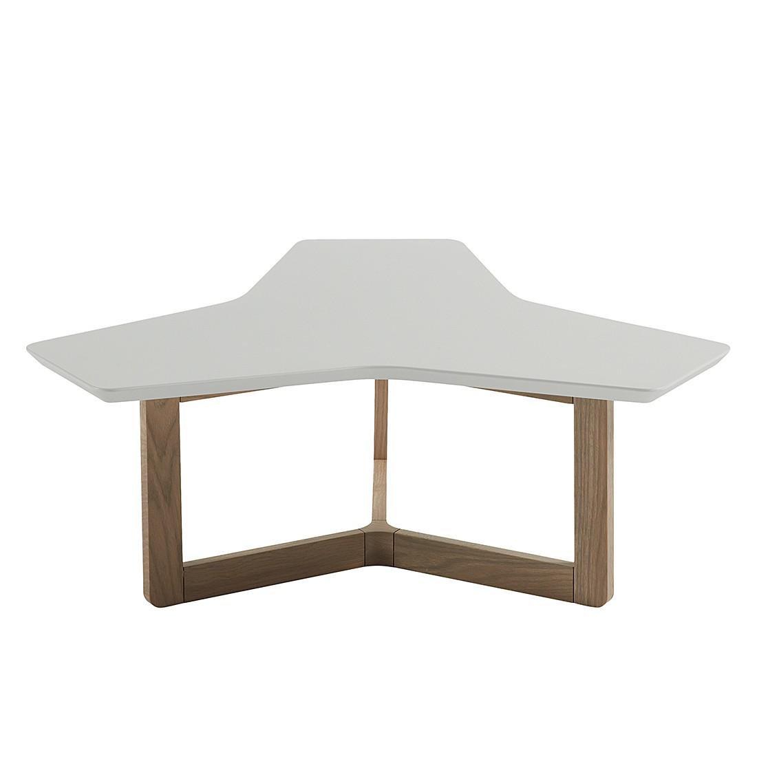Table basse Larne - Gris clair mat / Chêne, Morteens