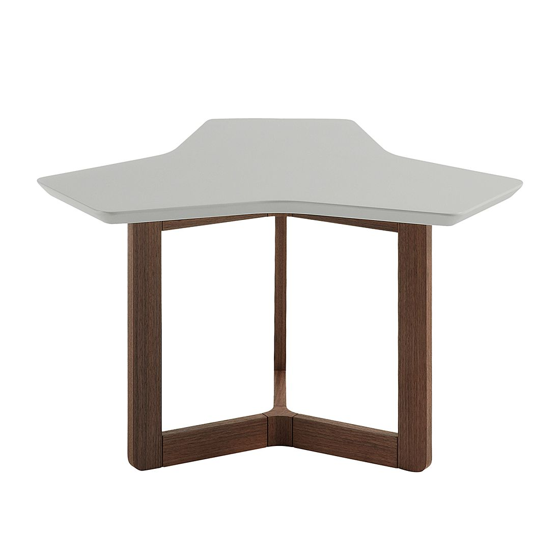 Table d'appoint Solberga - Gris mat / Noyer, Morteens