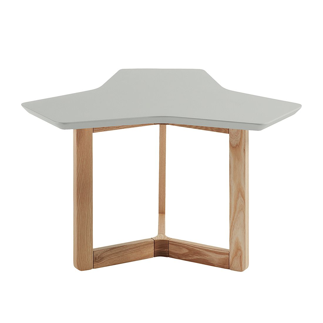 Table d'appoint Solberga - Gris mat / Frêne, Morteens