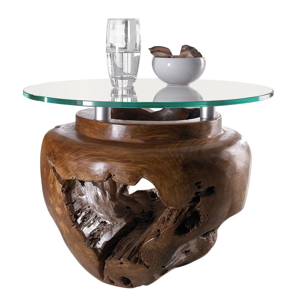 Tavolo da salotto Lavezzi I - Legno massello di teak cerato/Satinato, ars manufacti