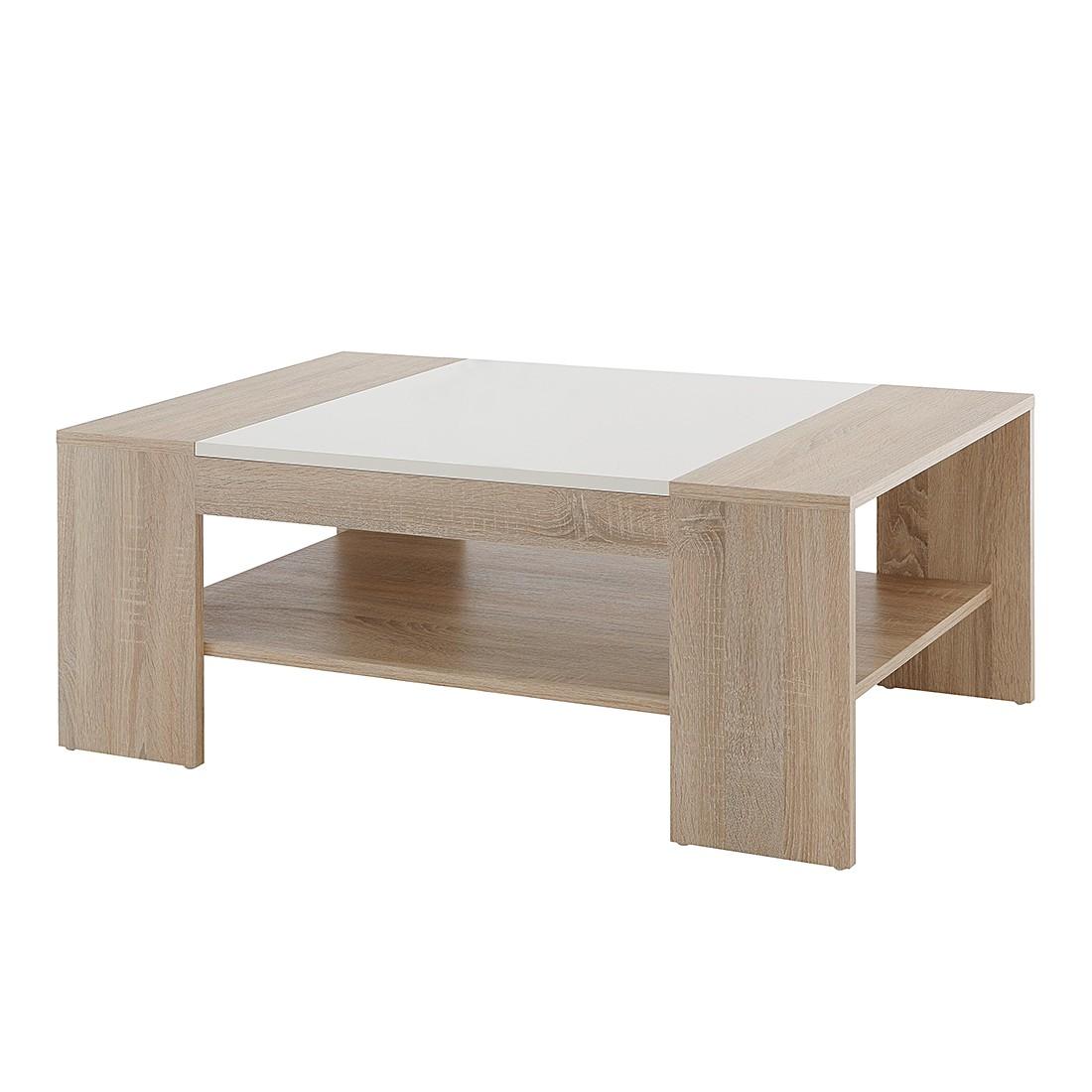 Tavolino da salotto liam - effetto quercia di sonoma/bianco, Home Design